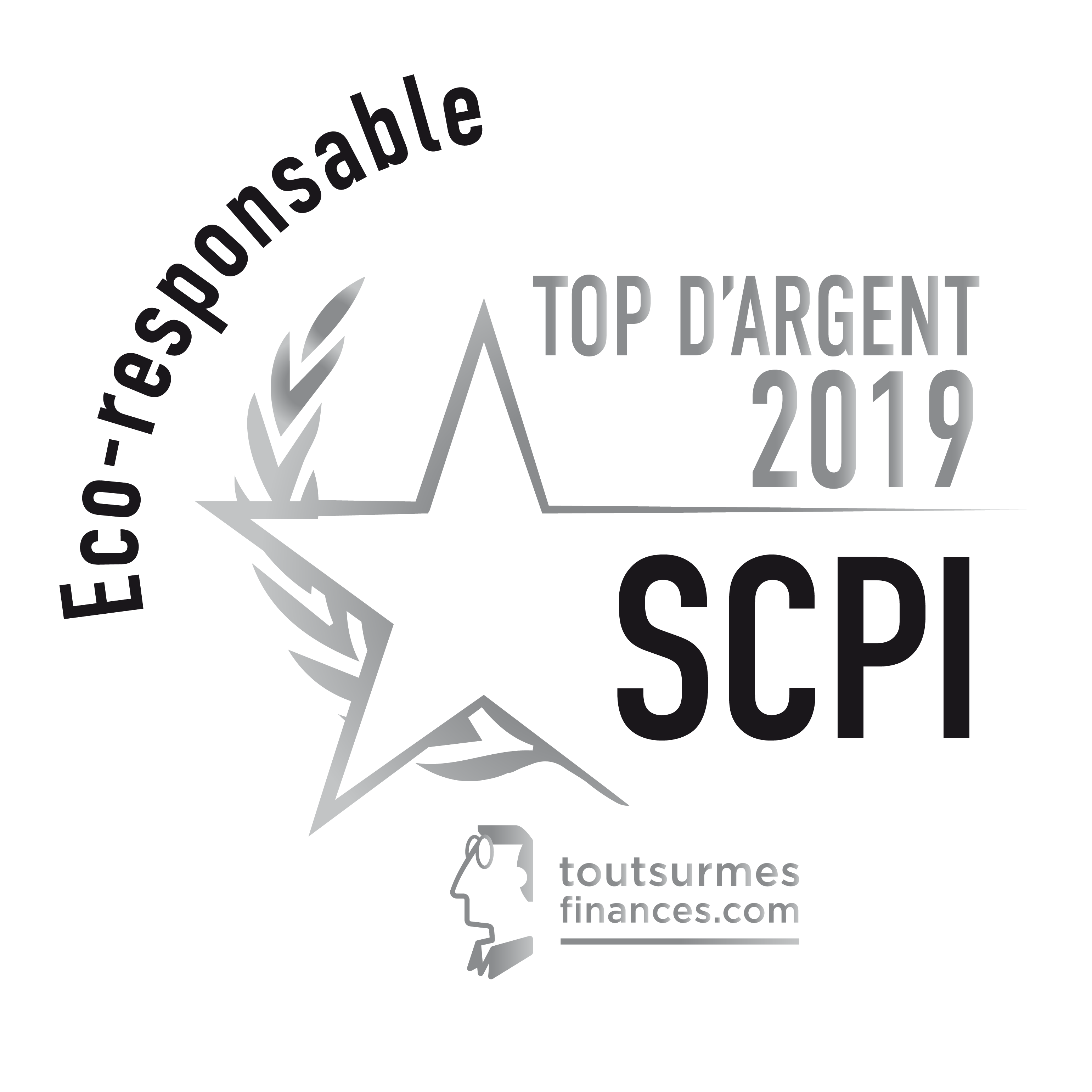 Top SCPI 2019 argent Eco responsable pour ACCIMMO PIERRE